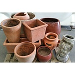 Ornate Ceramic Pots - Lot of 13