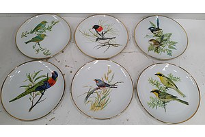 Australian Garden Birds Plates -Lot Of Six