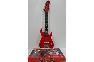 Small Electric Guitar  With Instructional Book And Video