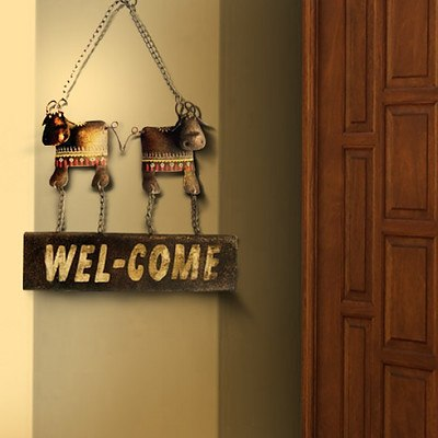 Rustic Metal Cow Welcome Board - Lot of 8 - *Brand New*