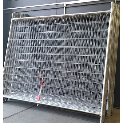 15 x 2.4 Meter Temporary Fencing Panels and Accessories