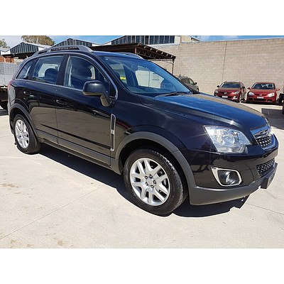 7/2013 Holden Captiva 5 LT (AWD) CG MY13 4d Wagon Black 2.2L