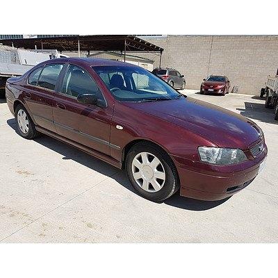 2/2005 Ford Falcon XT BA MKII 4d Sedan Maroon 4.0L