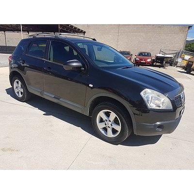 3/2008 Nissan Dualis ST (4x4) J10 4d Wagon Black 2.0L