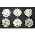 Australia: 1961 Shillings Uncirculated (X6)