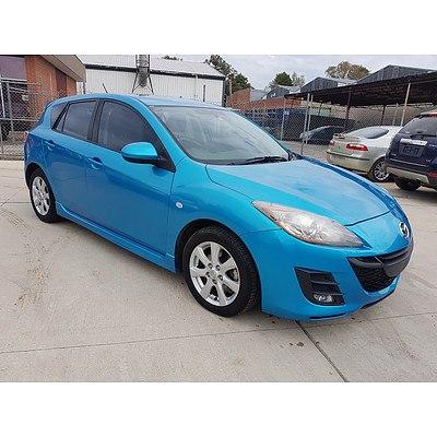 1/2011 Mazda Mazda3 Diesel BL 10 UPGRADE 5d Hatchback Blue 2.2L