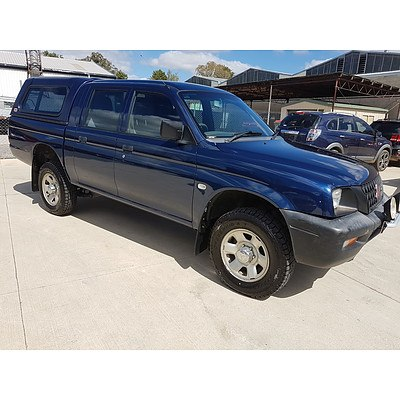 10/2002 Mitsubishi Triton GLX MK Double Cab Utility Blue 3.0L