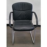 17 Buro Kingston High Back Black Reception Chairs