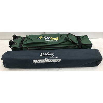 Oztrail Compact Gazebo Wild Country Camping Stretcher
