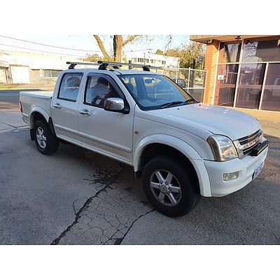 8/2003 Holden Rodeo LX RA Crew Cab P/up White 3.5L