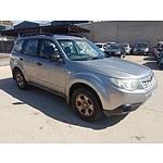 1/2011 Subaru Forester X MY11 4d Wagon Silver 2.5L