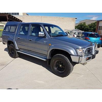 8/1998 Toyota Hilux (4x4) RZN169R Dual Cab P/up Silver 2.7L