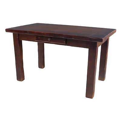 Rustic Solid Elm Kitchen or Farmhouse Type Table