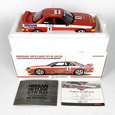 AUTOart 1992 Nissan Skyline GT-R R32 (930/1008) 1:18 Scale Model Car