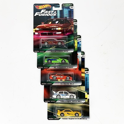 Complete Hot Wheels Premium Collection Model Cars - Fast & Furious (Original Fast)