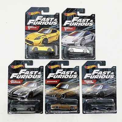 Hot Wheels Collection Model Cars - Fast & Furious