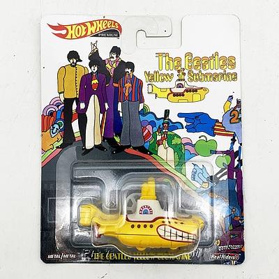 Hot Wheels Premium Collection Model Car - The Beatles Yellow Submarine