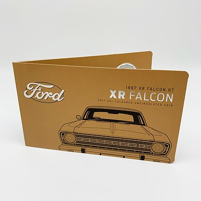 2017 50c Coloured Uncirculated Coin - 1967 Ford XR Falcon GT