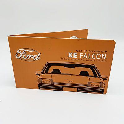 2017 50c Coloured Uncirculated Coin - 1982 Ford XE Falcon ESP