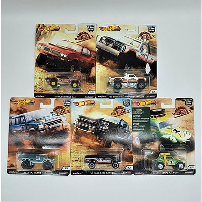 Complete Hot Wheels Premium Collection Model Cars - Desert Rally