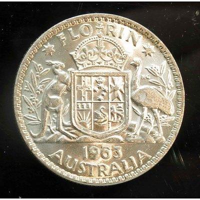 Australia: Silver Florin 1963