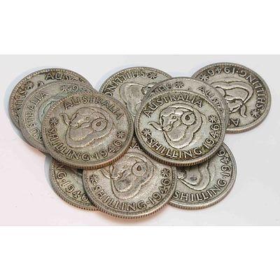 Australia: Silver Shillings 1946 .S Perth Mint