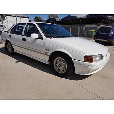 3/1992 Ford Fairmont GHIA EB 4d Sedan White 5.0L Rare Manual