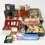 Gentlemans Lot Including Two Zippo Lighters and Quantity of Spare Wicks & Flints, Matchbox Collection, Cufflinks, Compass Set and More