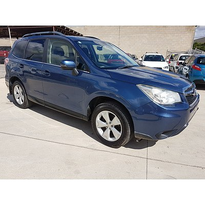 2/2013 Subaru Forester 2.5i MY13 4d Wagon Blue 2.5L