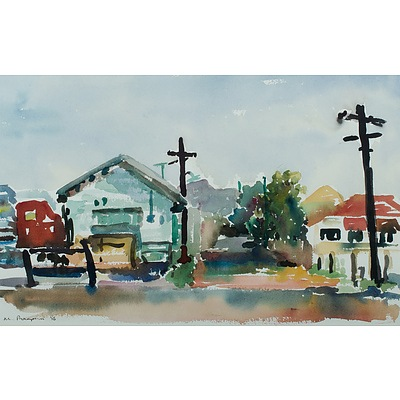 THOMPSON Maggie, 'Houses by Ross Creek', 1986