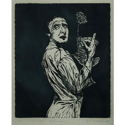 European School, Signed, 'Marcel Marceau'