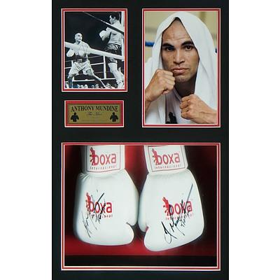 Framed Anthony Mundine Boxing Memorabilia WBA Super Middleweight Champion, 7th March 2007