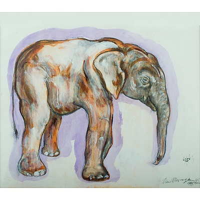 Van WIERINGEN Ian (Born 1944), Elephant & Ant, 1995