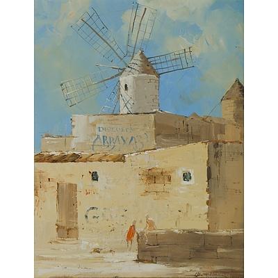 PARKER Colin (Born 1941), 'Old Windmills, Palma, Majorca ', 1984