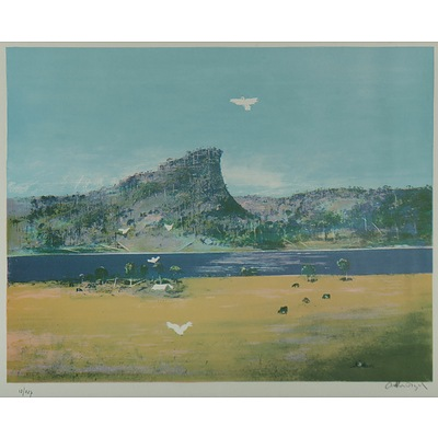 BOYD Arthur Merric Bloomfield (1920-1999), Pulpit Rock and Cockatoos