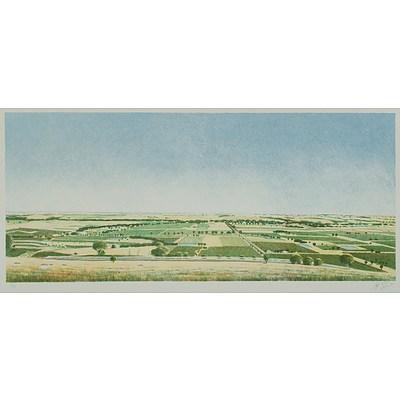 RIGBY Jeff (Born 1948), 'Tanunda from Mengler Hill', 1981
