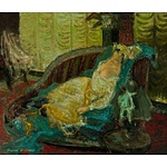 BOLLAERT, Pierre (French School), Lady in a Salon