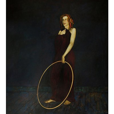 PROUD Geoffrey (Born 1946), Woman with Hoop, 1994