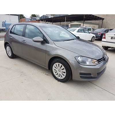 2/2013 Volkswagen Golf 90 TSI AU 5d Hatchback Grey 1.4L