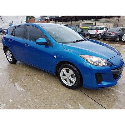 12/2011 Mazda Mazda3 NEO BL 11 UPGRADE 5d Hatchback Blue 2.0L
