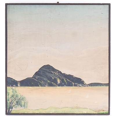 Murray Williams, Spring on the Lake 1988, Mixed Media on Board