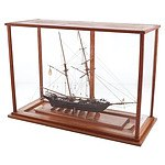 Large Vintage Hand Crafted Model of Swallow Warship with Bespoke Display Box