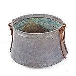 Middle Eastern Hand Beaten Copper Cauldron