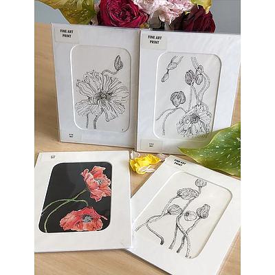Fine Art Prints - Poppy Series by Kylie Fogarty Artist