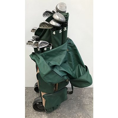 Set Of Multilink Golf Clubs With Trolley Bag