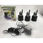 Digitech 40 20 Channel UHF CB Transceiver Radios -Lot Of Four