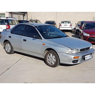 11/1997 Subaru Impreza LX  4d Sedan Silver 1.6L