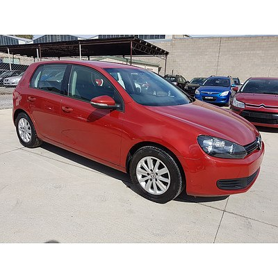 12/2009 Volkswagen Golf 90 TSI Trendline 1K MY10 5d Hatchback Red 1.4L