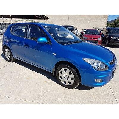 7/2010 Hyundai I30 SX FD MY10 5d Hatchback Blue 2.0L