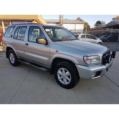 1/2004 Nissan Pathfinder Ti (4x4) MY03 4d Wagon Silver 3.3L